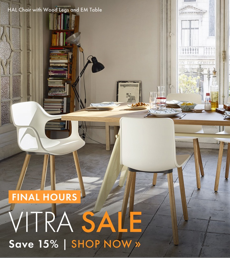 yliving vitra sale ends today final hours to save on panton chairs george nelson clocks and. Black Bedroom Furniture Sets. Home Design Ideas