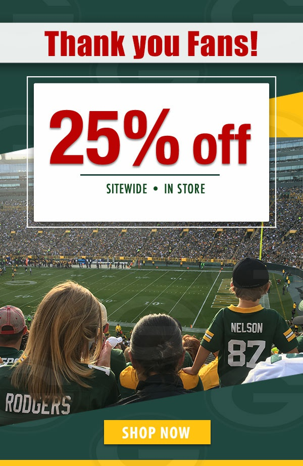 Packers pro shop discount coupons