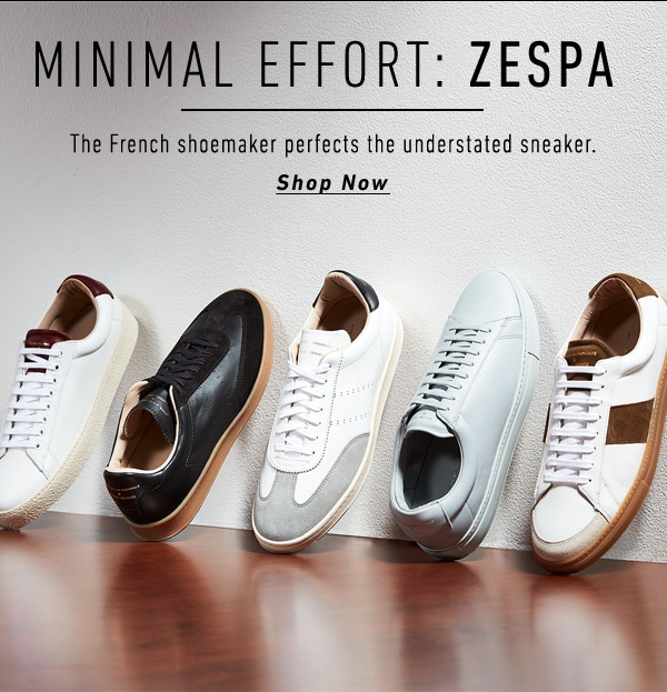 Minimal Effort: Zespa - the French shoemaker perfects the understated sneaker