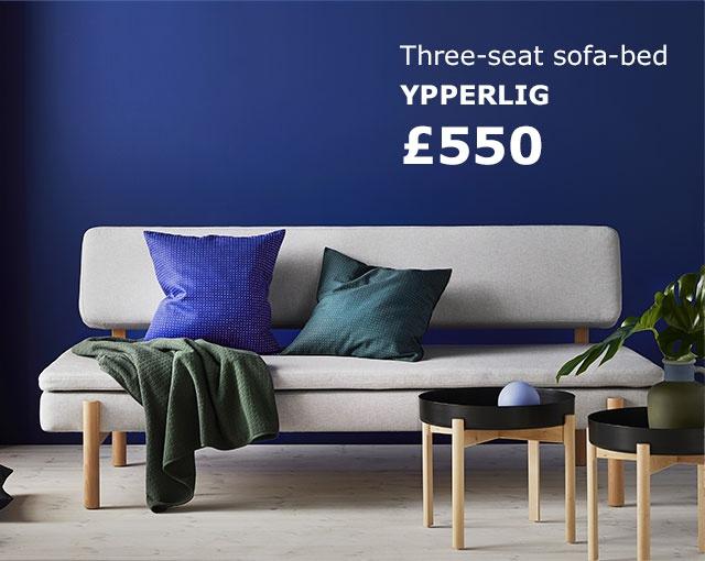 Three-seat sofa-bed YPPERLIG £550