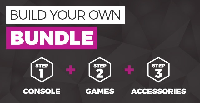 BUILD YOUR OWN BUNDLE - Step 1 Console + Step 2 Games + Step 3 Accessories