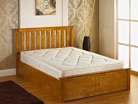 Ottoman Oak Storage Bed