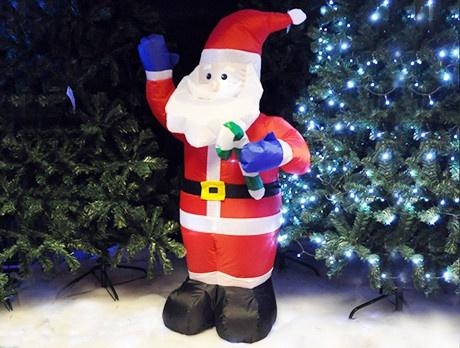 Inflatable Santa & Snowman
