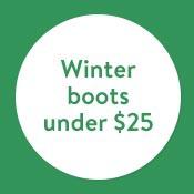 Winter boots under $25