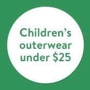Children's outerwear under $25