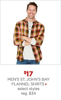 Men's St. #'s Bay flannel shirts