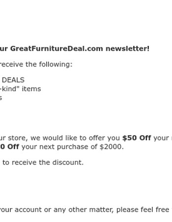 Newsletter Success & Instant Coupon