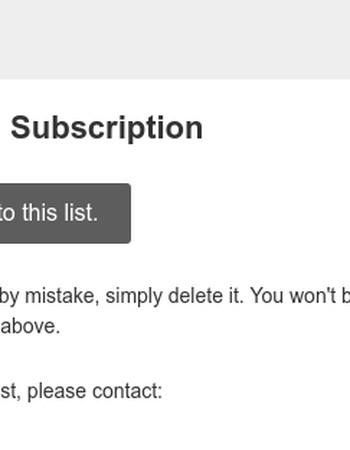 Mobile: Please Confirm Subscription