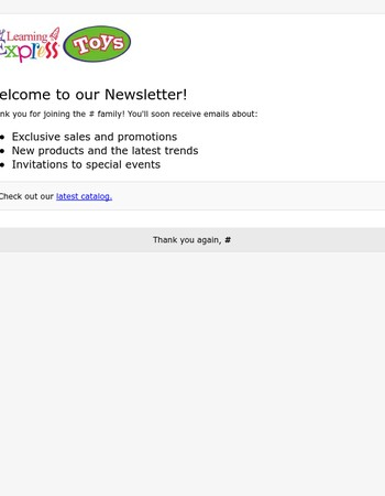 Learning Express Toys Newsletter