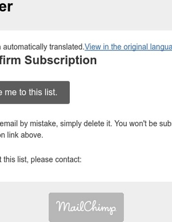 Miansai Newsletter: Please Confirm Subscription