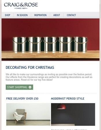 Christmas decorating I Delivery offer I Being bolder with colour