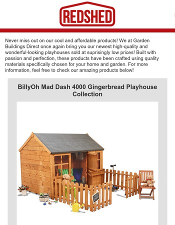 ICYMI: Fantastic BillyOh Playhouses for Sale❗