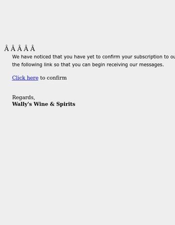 Please confirm your subscription