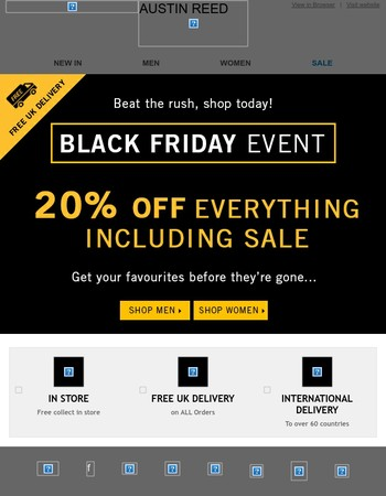 Beat the Black Friday Rush Today!