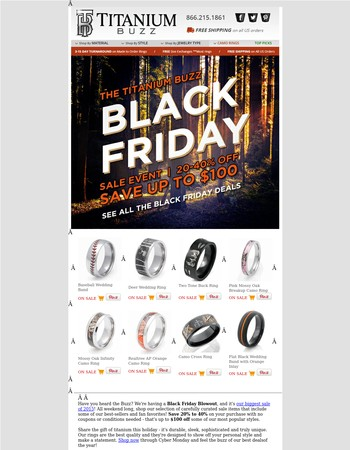 Up to $100 Off Our Best Rings - Black Friday Sale!