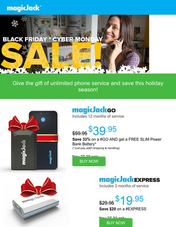 Last Chance to Save! magicJack Holiday Sale Ends Monday