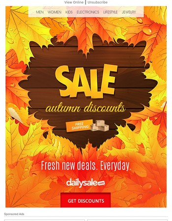 Autumn Discounts With Fresh New Deals