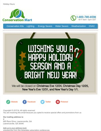 Happy Holidays from Conservation Mart