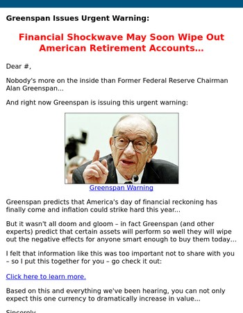Greenspan Warning...