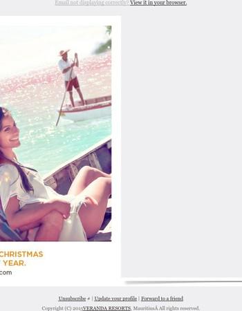 Veranda Resorts wishes you Merry Christmas and Happy New Year 2016!