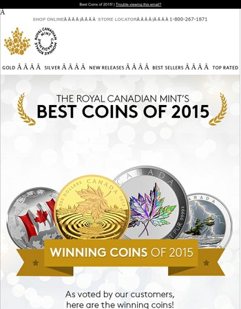 The Winning Coins of 2015!