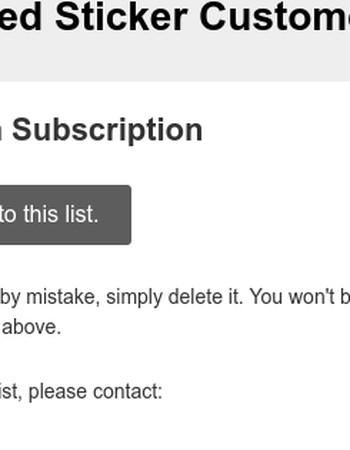 StickerGiant Company Newsletter for Sticker Fanatics: Please Confirm Subscription