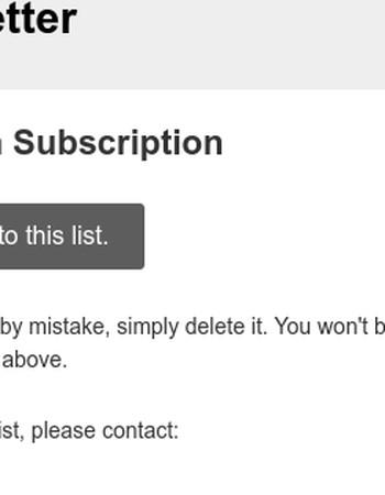 BGH eNewsletter: Please Confirm Subscription