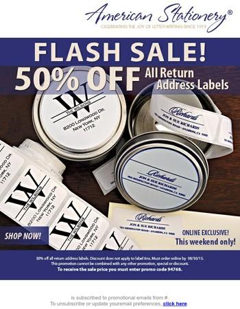 Weekend Flash Sale!