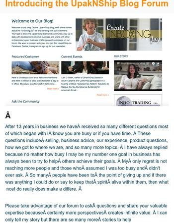 upaknship.com *NEW* Blog Forum & SALE!!!