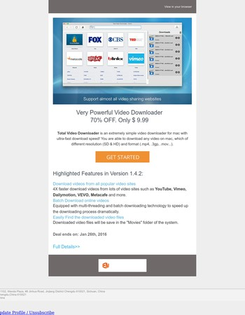 [Partner Offer] - Very Powerful Video Downloader 70% OFF. Only $ 9.99