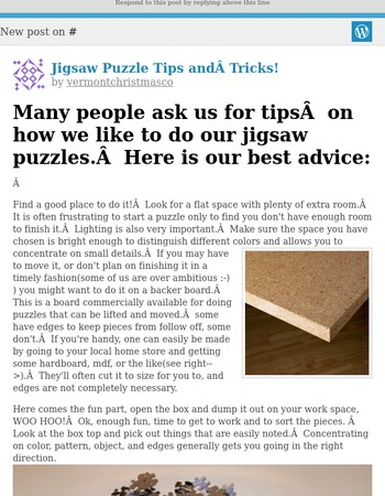 [New post] Jigsaw Puzzle Tips and Tricks!