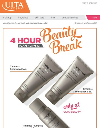 4 Hours Only: Free 3pc Living Proof Gift + 16pc Beauty Bag