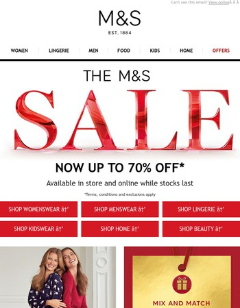 The M&S Sale - now up to 70% off