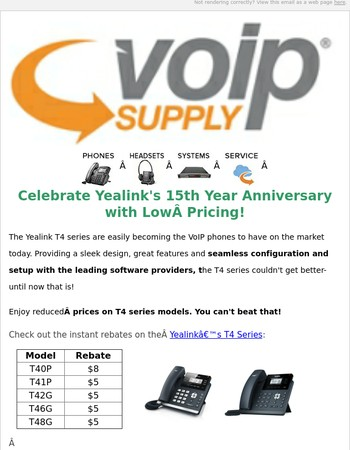 Celebrate Yealink's 15th Year Anniversary with Low Pricing