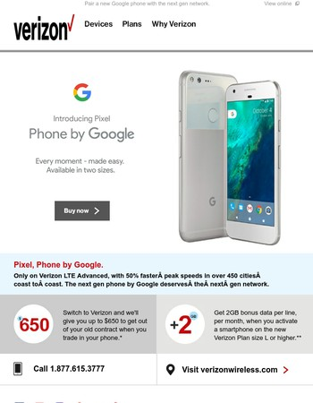 Get Pixel, Phone by Google. Available now.