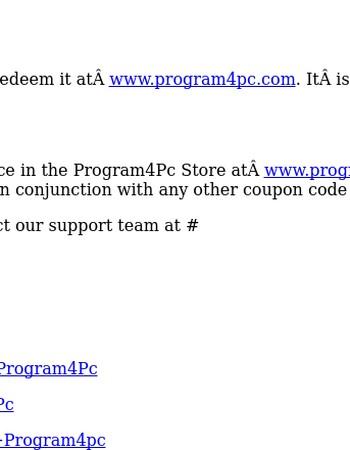 Program4Pc $5 Coupon