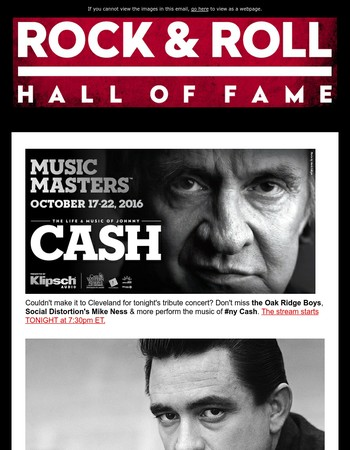 Stream the Johnny Cash Tribute Concert + #RockHall2017 Vote