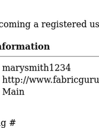 FabricGuru.com: New customer profile notification