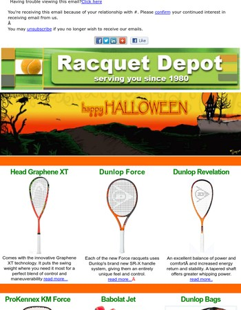 Racquet Depot Spook-tacular Finds