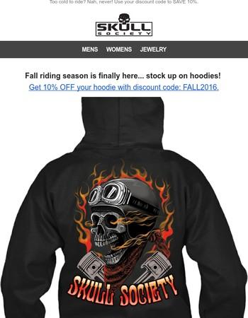 10% OFF Hoodies (discount code inside)