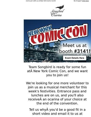 Meet us at New York Comic Con!