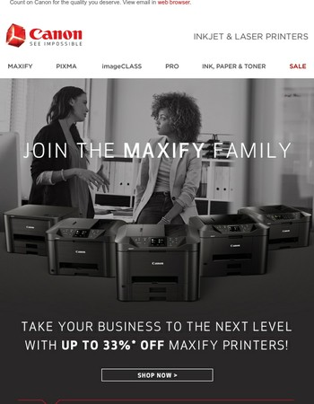 Join the MAXIFY Family & Save!