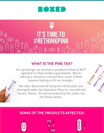 It's Time To #RethinkPink! We're Taking A Stand On Pink Tax