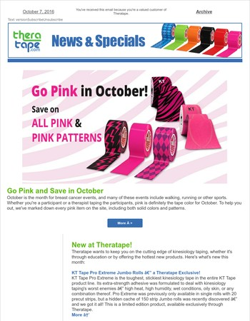 Think Pink and Save!