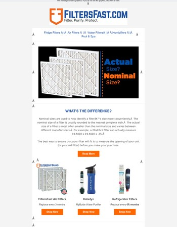 Air Filters: Actual vs. Nominal Sizes