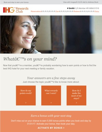 Get rewarded on your next stay