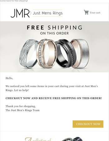 FREE SHIPPING AT JUST MEN'S RINGS