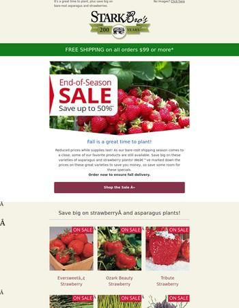End of Season Deals on Asparagus & Rhubarb