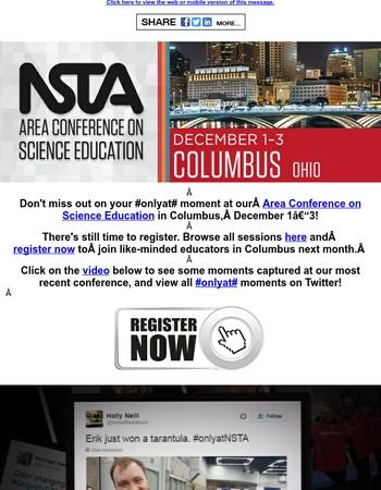 Erik just won a tarantula #onlyatNSTA - Make your moments at the Columbus Area Conference!