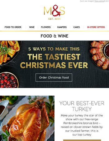 Create a Christmas meal to remember